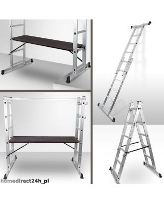 3in1 Aliuminės kopėčios - Pastoliai - Platforma